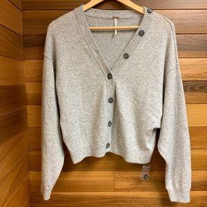 NWOT Free People Cashmere Cardi Dolman Sweater